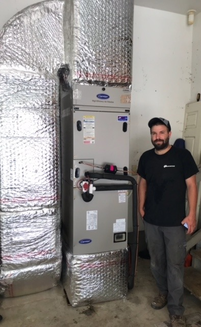 Carrier Infinity Heat Pump Installation
