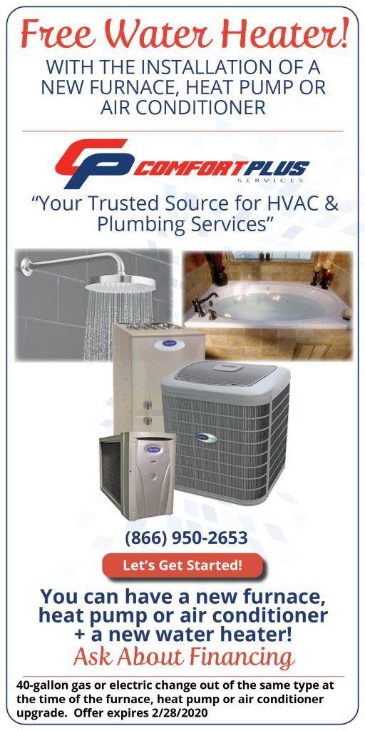 Comfort Plus Services - Free Water Heater Promotion