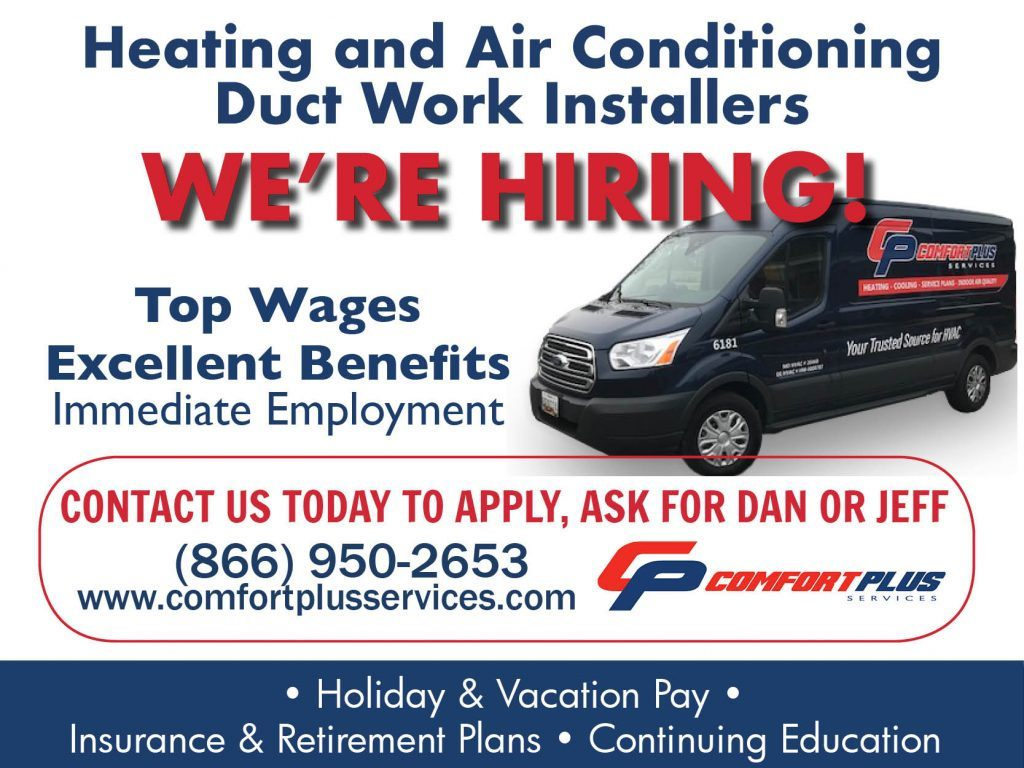 Comfort Plus Services - HVAC Duct Work Installer Position